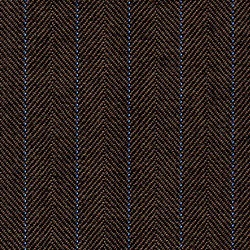 Cloth Pure Wool Stripe Brown