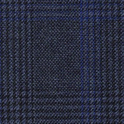 Stoff Wolle Prince of Wales Check Blau