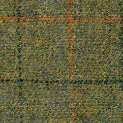 Cloth 100% Lambswool Plaid Green