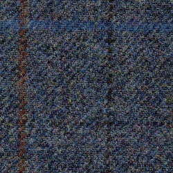 Cloth 100% Lambswool Plaid Blue