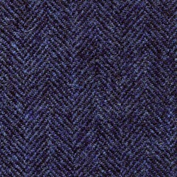 Cloth 100% Lambswool Herringbone Blue