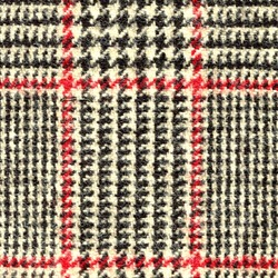 Cloth 100% Lambswool Plaid Brown
