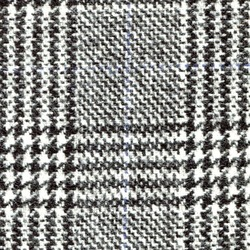 Cloth 100% Lambswool Plaid Black/White