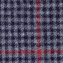 Cloth 100% Lambswool Windowpane Blue