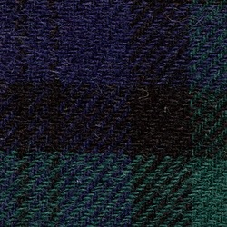 Cloth Pure Wool Plaid Green