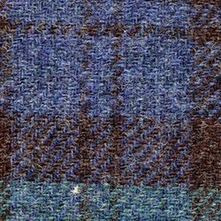 Cloth Pure Wool Plaid Blue