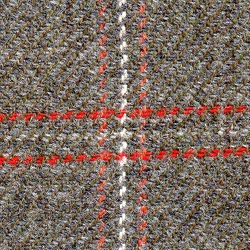 Cloth Pure Wool Plaid Grey
