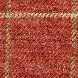 Cloth Pure Wool Windowpane Red
