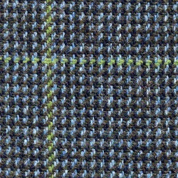 Cloth Pure Wool Windowpane Blue