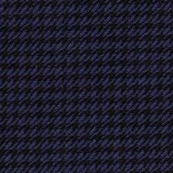 Cloth 55% Silk 45% Wool Super 120s  Houndstooth Blue