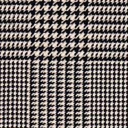 Cloth 55% Silk 45% Wool Super 120s  Plaid Black/White
