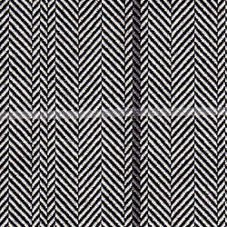 Cloth 55% Silk 45% Wool Super 120s  Herringbone Black/White
