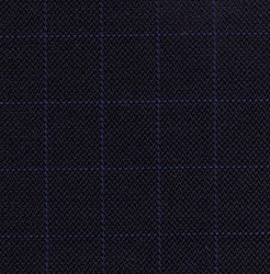 Cloth 55% Silk 45% Wool Super 120s  Windowpane Blue