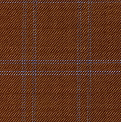 Cloth 55% Silk 45% Wool Super 120s  Windowpane Brown