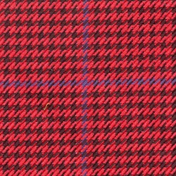 Cloth 55% Silk 45% Wool Super 120s  Houndstooth Red