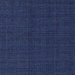 Stoff Wolle Super 130s Prince of Wales Check Blau