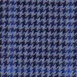 Cloth Wool Super 100s & Cashmere Houndstooth Blue